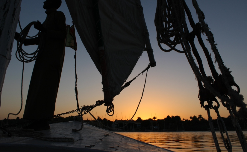 Aswan: A felucca ride at sunset along theNile